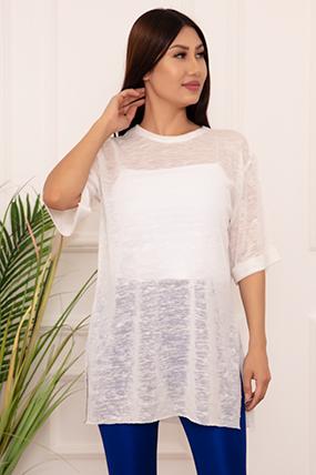 Bayan Basic Salaş ESP12 T-shirt-20Y53078U29