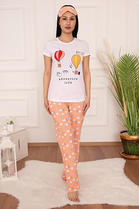 Bayan Pijama Takımı Balon Baskılı 2001-20Y64019H10
