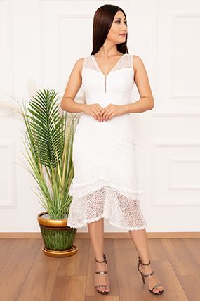 Bayan Eteği Kat Kat Volanlı 994 Elbise-20Y69001H36