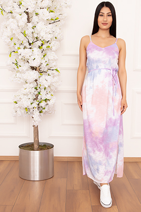 Bayan İp Askılı Batik 258 Elbise-20Y69020H21