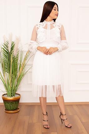 Bayan Dantel Detaylı Tül 1749 Elbise-20Y69052H37