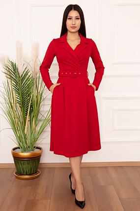 Bayan Klasik Yaka Midi Boy 2366 Elbise-20Y69061H16
