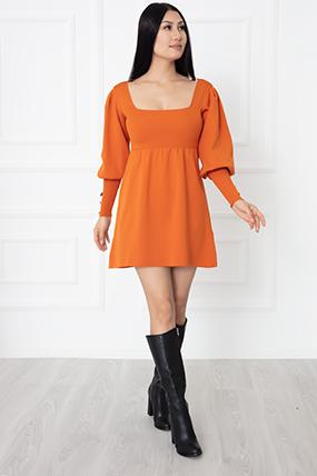 Bayan Kolları Düğmeli Triko Elbise 1010-21K54027H08