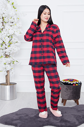 Bayan Ekose Pijama Takımı RBY11-21K64002H24