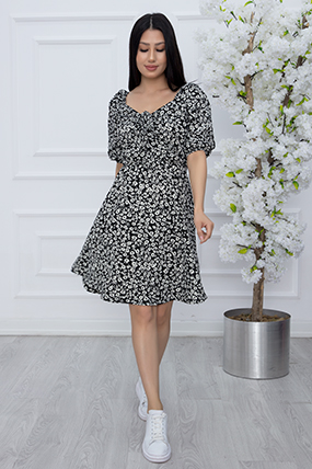 Kadıb Büzgülü Kaşkorse Elbise SLF001-21Y69013H80
