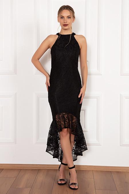 Dixie 13208 Dantel Eteği Volanlı Elbise-19K69031U13