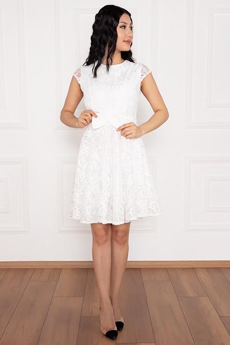 Elisy 13260 Dantel Kısa Elbise-19K69076U13