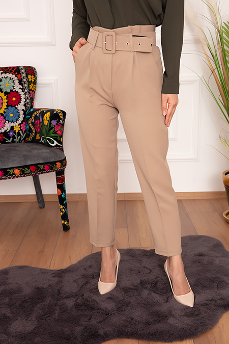 Bayan Geniş Kemer 007 Pantolon-20Y60007U10