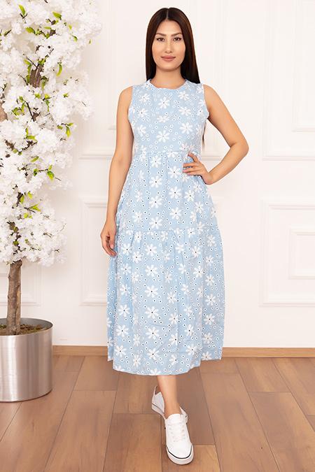Bayan Papatya Nakışlı Askılı 1234 Elbise-20Y69048H28