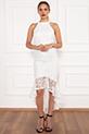 Dixie 13208 Dantel Eteği Volanlı Elbise / EKRU