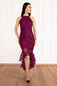 Dixie 13208 Dantel Eteği Volanlı Elbise / MURDUM