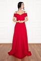 Susan 13238 Uzun Askılı Atlas Elbise / BORDO
