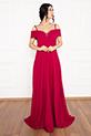 Susan 13238 Uzun Askılı Atlas Elbise / FUSYA