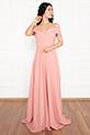 Susan 13238 Uzun Askılı Atlas Elbise / PUDRA