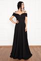 Susan 13238 Uzun Askılı Atlas Elbise / SIYAH