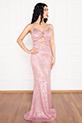 Betty 13237 Pulpayet Askılı Uzun Elbise / PUDRA