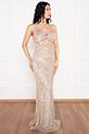 Betty 13237 Pulpayet Askılı Uzun Elbise / GOLD