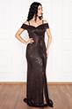 Elisa 13243 Buzy Askılı Uzun Elbise / BAKIR