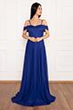 Deborah 13242 Askılı Uzun Elbise / SAX