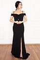 Billie 13248 Dalgıç Krep Uzun Elbise / SIYAH