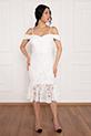 Dees 13266 Askılı Eteği Volanlı Elbise / EKRU