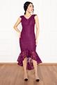 Veyl 13259  Eteği Volanlı Dantel Elbise / MURDUM
