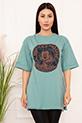 Bayan Micky Mouse Baskılı Salaş ESP05 T-shirt / MİNT