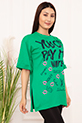 Bayan YCPMW Baskılı Salaş ESP06 T-Shirt / YESIL